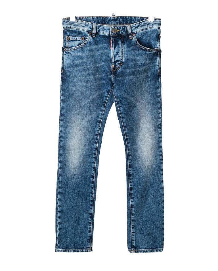 Niebieskie jeansy z przetarciami 6-16 lat