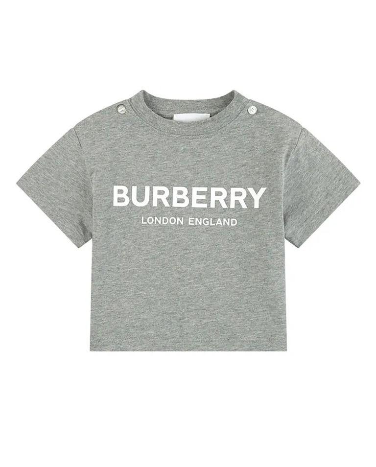 Szara koszulka z logo 0-2 lat