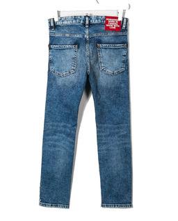 Niebieskie jeansy z przetarciami 4-16 lat