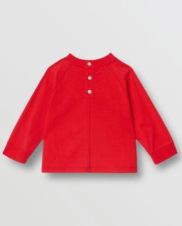 Czerwona koszulka z długim rękawem 0-2 lat