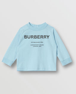 Niebieska koszulka z długim rękawem 0-2 lat