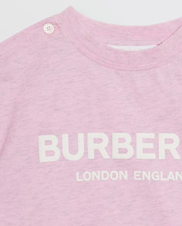 Różowa koszulka z logo 0-2 lat