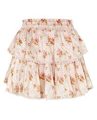Spódnica mini z jedwabiu