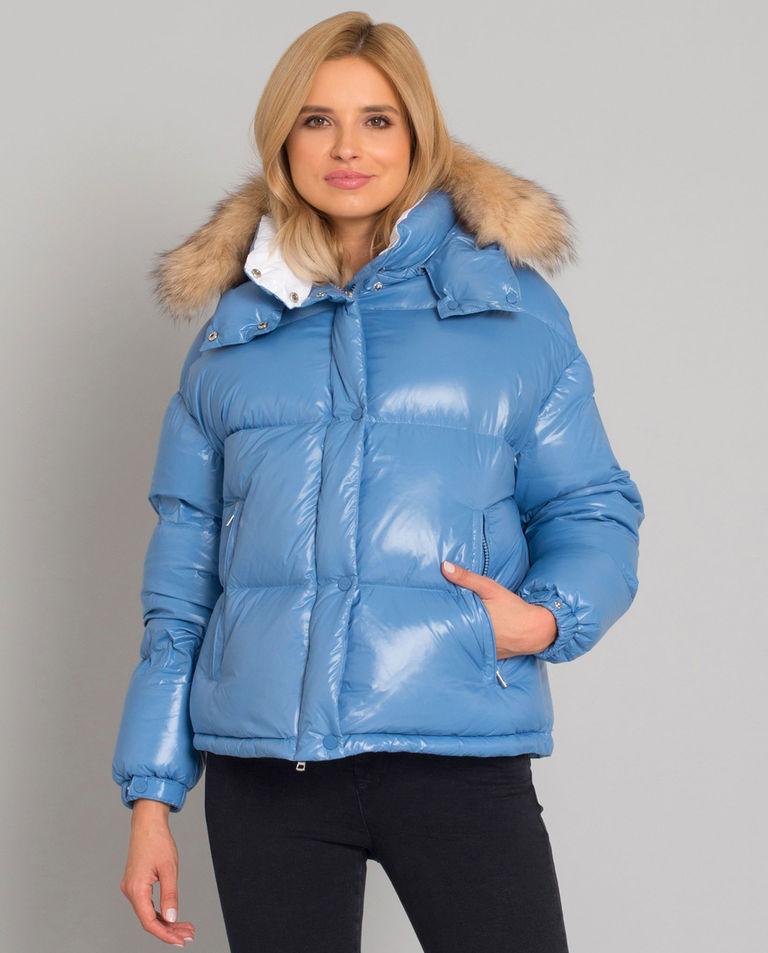 Niebieska kurtka puchowa Hiara