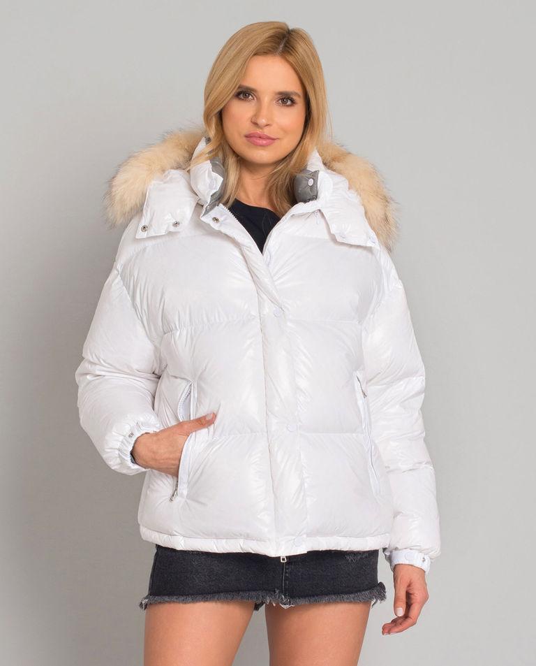 Biała kurtka puchowa Hiara