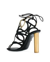 Czarne sandały na obcasie VINCI