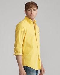 Żółta koszula ze sztruksu