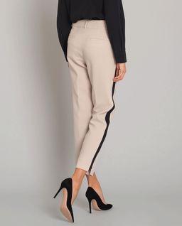 Beżowe spodnie z lampasem