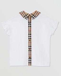 Biała koszulka z kołnierzykiem 3-14 lat