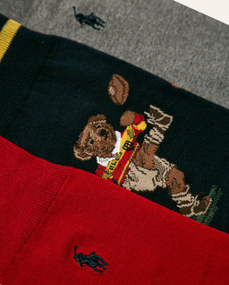 Skarpety z misiem (3-pack)