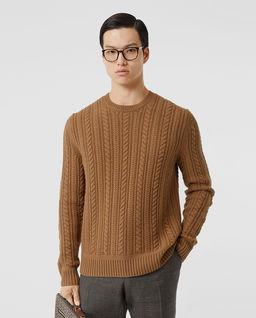 Brązowy sweter z kaszmiru