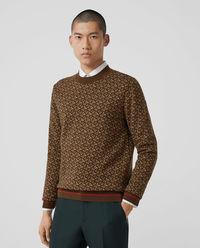Wełniany sweter z monogramem