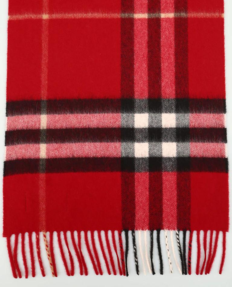 Kaszmirowy szalik w kratę