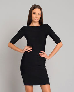 Czarna sukienka Off-the-Shoulder
