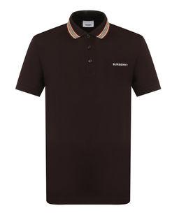 Brązowa koszulka z monogramem