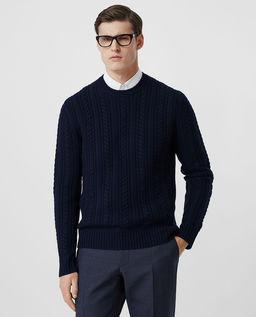 Granatowy sweter z kaszmiru