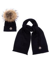Granatowa czapka i szalik