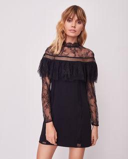 Koronkowa sukienka z krepy