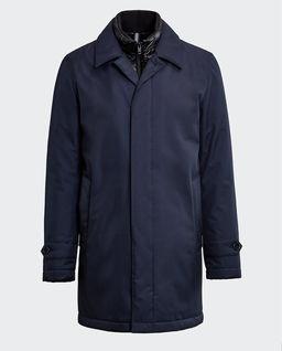 Granatowy płaszcz