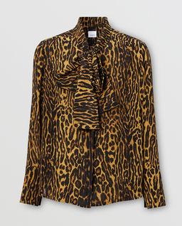 Szyfonowa bluzka z kokardą