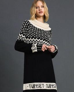 Żakardowa sukienka z koralikami