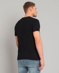Czarny t-shirt z księżycem