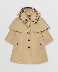 Beżowy płaszcz przeciwdeszczowy 4-10 lat