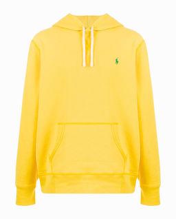 Żółta bluza z kapturem