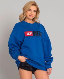 Niebieska bluza z logo marki