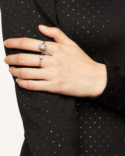 Podwójny pierścionek The Pave