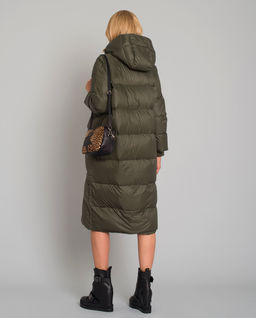 Zielony puchowy płaszcz