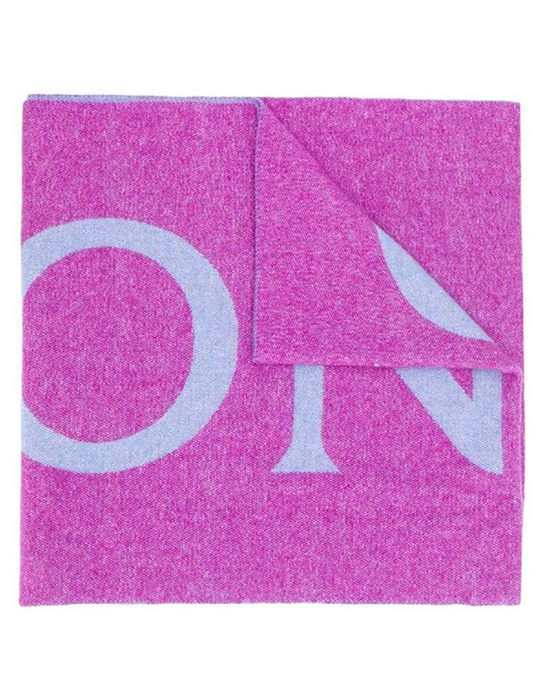 Fioletowy szalik z logo