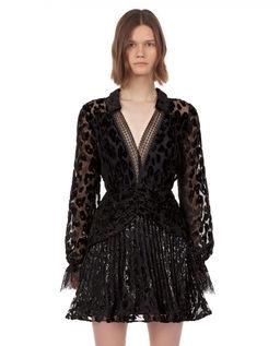 Sukienka w cętki leoparda
