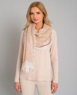 Zestaw - sweter z kaszmiru i chusta z wełny