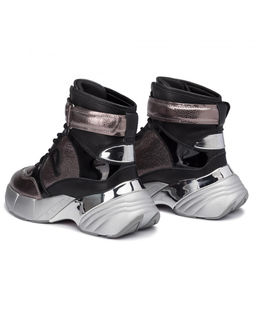 Sneakersy ze skóry Lugano Pelle Laminata