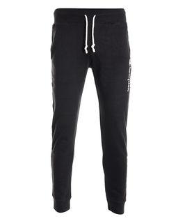 Czarne spodnie dresowe z logo