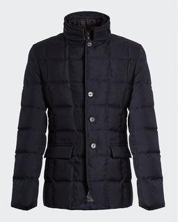 Granatowa pikowana kurtka