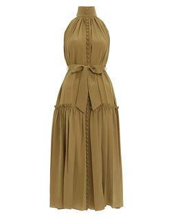 Jedwabna rozkloszowana sukienka