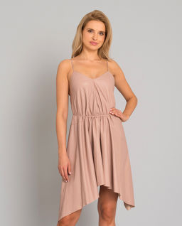 Skórzana sukienka mini