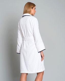 Biały szlafrok z bawełny