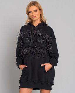 Bluza z kapturem i z piórami