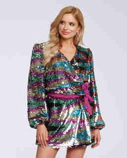 Kopertowa sukienka w cekiny Noelle