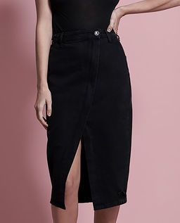 Černá džínová sukně