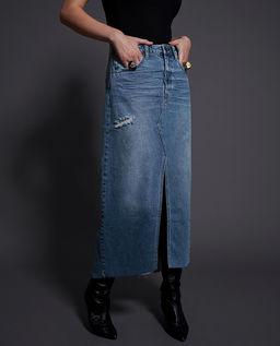 Džínová maxi sukně