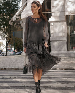 Sukienka maxi z jedwabiu Francesca