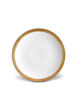 Złocony talerz deserowy Corde Gold