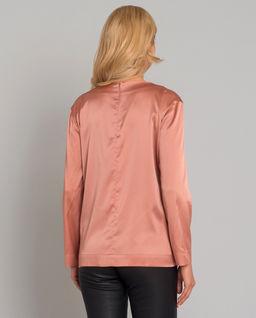 Różowa bluzka z jedwabiu