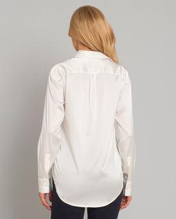 Jedwabna koszula z połyskiem
