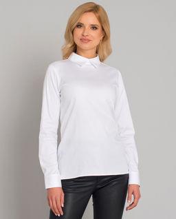 Biała bluzka zapinana z tyłu