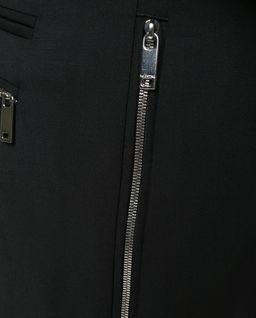 Czarne spodnie z zamkami